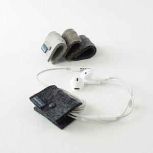 4 minimalistische Kabelbinder aus Filz für Kopfhörerkabel 'elli' - matilda k. manufaktur