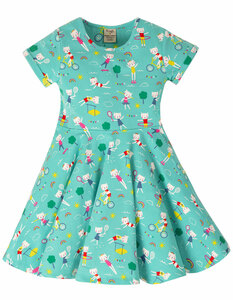 Spring skater dress fun at the games GOTS - Frugi