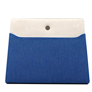"Clutch Tasche ""Le Bleuet"" aus Canvas - UTMON ES POUR PARIS"