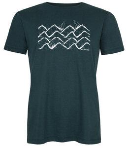 Biofaires Waves & Boats Men Shirt _ teal / ILK01 Made in Kenia - ilovemixtapes