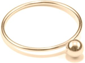 Ring SPHERE, Gold 585, 14 karat, Größe 50 - 56, Handmade in Germany, JRJ - Jonathan Radetz Jewellery