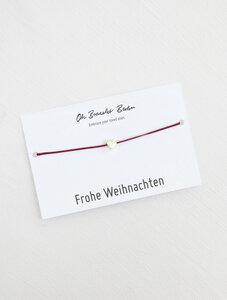 "Nylonarmband ""Frohe Weihnachten"" - Oh Bracelet Berlin"
