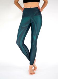 Yoga Leggings GREEN BIRD grün - Arctic Flamingo