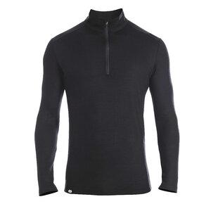 Rewoolution Herren Mesh Langarm Zip-Shirt Castor - Rewoolution