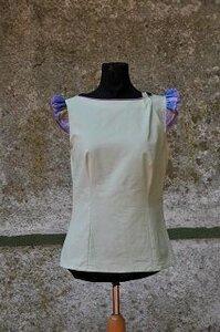 Bluse mint mit kleiner Armrüsche LIMITIERTE AUFLAGE! - käufer (d) sein