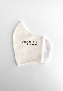 Maske Don't Forget To Smile White - PHYNE
