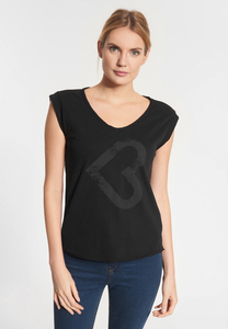 "Damen T-shirt aus Bio Baumwolle ""Catania Lieblingsplatz"" schwarz - SHIRTS FOR LIFE"