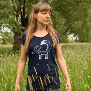 Damen T-Shirt Franzi Fuchs in navy - Cmig