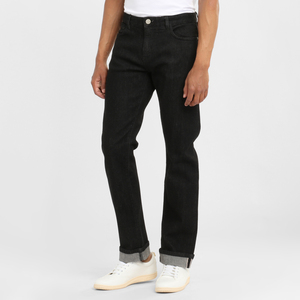 Jeans Regular Straight - Oak black rinse - KnowledgeCotton Apparel