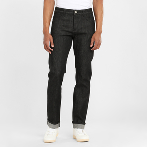 Jeans Regular Straight - Oak raw black - KnowledgeCotton Apparel