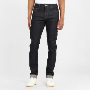 Jeans Slim tapered - Ash raw blue  - KnowledgeCotton Apparel