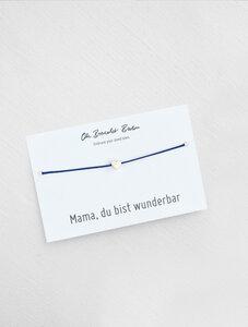 "Nylonarmband Herz ""Mama, du bist..."" | optional mit Gravur - Oh Bracelet Berlin"