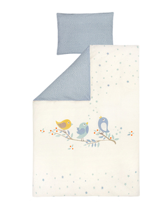 Zöllner Organic Kinderbettwäsche, Bluebird Blau - Julius Zöllner