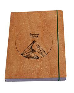 Notizbuch Abenteuer Logbuch Berg - Kirsche oder Nussbaum - Waldkind