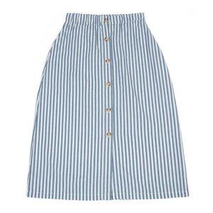 Lily Balou Frauen Rock skirt boat stripe teal blue - Lily Balou
