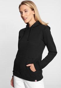 "Damen Sweatshirt aus Biobaumwolle & rec. Polyester ""Petite Dots"" black - derbe"