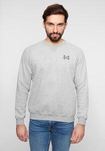 "Herren Sweatshirt aus Bio Baumwolle & rec. Polyester ""Helmet"" grey - derbe"