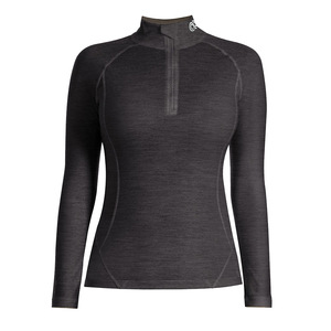 Rewoolution Damen Langarm-Zip-Shirt Lindsey - Rewoolution