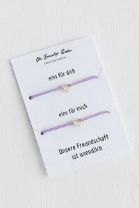 2er-Set: Freundschaftsarmband »Herz Outline« - Oh Bracelet Berlin