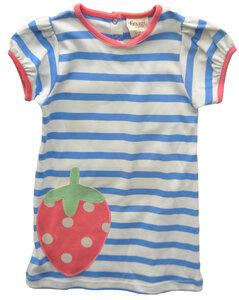 Kleinkinder Kleid aus 100% Baumwolle ( bio) Frugi blau weiß gestreift - Frugi