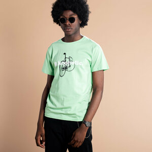 Stockholm Bikeaholic T-Shirt (mint) - DEDICATED