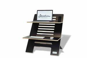 Standsome Double Black - Stehschreibtisch-Aufsatz aus Holz - Standsome