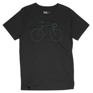 Stockholm Bicycle T-Shirt (charcoal) - DEDICATED