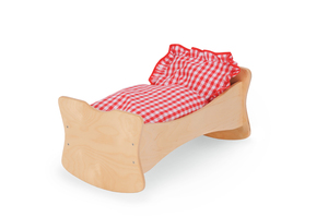 Wundeschönes Puppenbett, Puppenwiege mit Bettzeug - Einfach toll für die Kleinen - Bätz Holzspielwaren