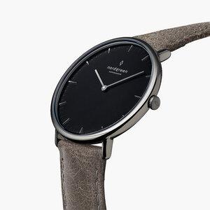 Armbanduhr Native Anthrazit | Schwarzes Ziffernblatt - Lederarmband - Nordgreen Copenhagen