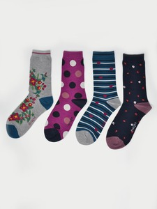 4er Set Socken - Mariot Sock Box - Thought