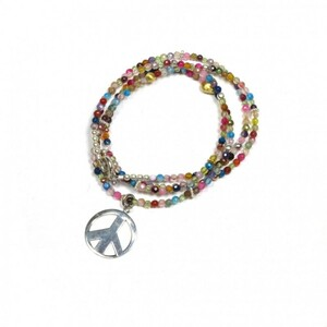 Farbenrauschkette Peace - Just Be