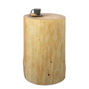Baumstamm Beistelltisch Fichte geölt Holzblock Holzklotz Hocker - GreenHaus