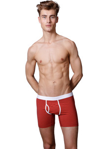 "Boxer Brief ""Classy Claus"" Red Stripes - VATTER"
