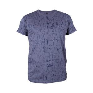 """Gemustertes Herren T-Shirt aus Bio-Baumwolle """"Wanyama"""" charcoal grau - Kipepeo-Clothing"""