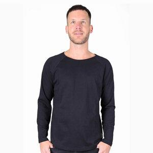 Herren T-Shirt Langarmshirt Basic aus Bio-Baumwolle. Handmade in Kenya - Kipepeo-Clothing