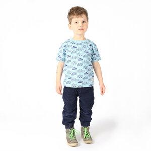 "Kinder T-Shirt aus Bio-Baumwolle ""Cars"" hellblau - Kipepeo-Clothing"