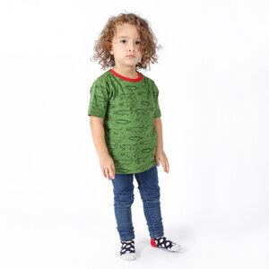 "Kinder T-Shirt aus Bio-Baumwolle ""Crocodiles"" grün - Kipepeo-Clothing"