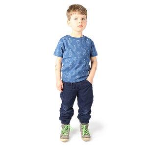 "Kinder T-Shirt aus Bio-Baumwolle ""Dansi"" blau - Kipepeo-Clothing"