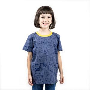 "Kinder T-Shirt aus Bio-Baumwolle ""Wanyama"" charcoal grau - Kipepeo-Clothing"