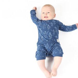"""Baby Schlafanzug aus Bio-Baumwolle """"Dansi"""" Blau - Kipepeo-Clothing"""