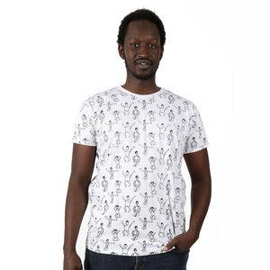 Gemustertes Herren T-Shirt aus Bio-Baumwolle 'Dansi'  - Kipepeo-Clothing