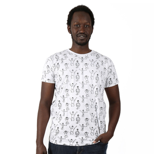 "Gemustertes Herren T-Shirt aus Bio-Baumwolle ""Dansi""  - Kipepeo-Clothing"