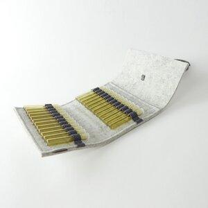 Taschenapotheke für homöopathische Globuli aus Filz weißgrau mit 24 leeren Gläschen 'samuel' - matilda k. manufaktur