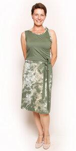 Hawaii-Kleid aus Lyocell mit Bachgeflüster - Peaces.bio - handbedruckte Biomode