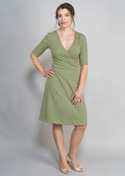 Green Size - Kleid Hanna grün mit Blumen | Avocadostore