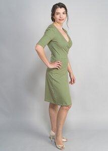 Kleid Hanna grün mit Blumen - Green Size