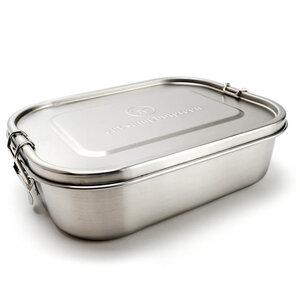 Große Edelstahl Brotdose - Lunchbox | Trennwand | 1.400 ml - samebutgreen