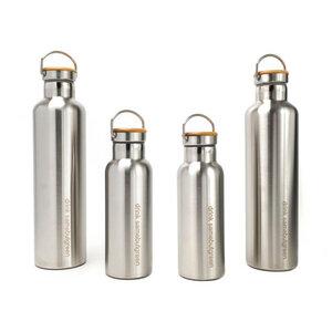 Familienpaket: Thermo Edelstahl Trinkflaschen (2x 1l und 2x 0,5l) - samebutgreen
