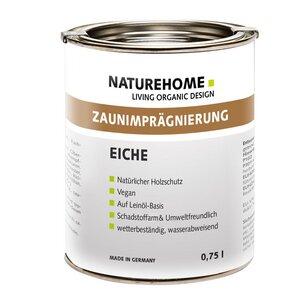 Vegane Zaunimprägnierung für Außenbereich versch. Farben Vegan 0,75l - NATUREHOME