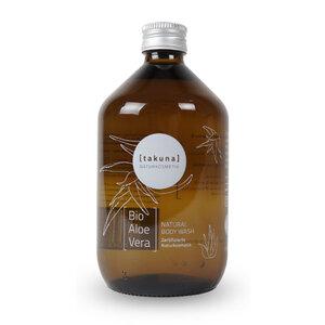 Body Wash | Bio-Aloe Vera 500ml in Glas-Mehrwegflasche - Takuna Naturkosmetik